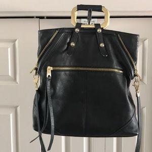 Cynthia Rowley 100% black leather purse
